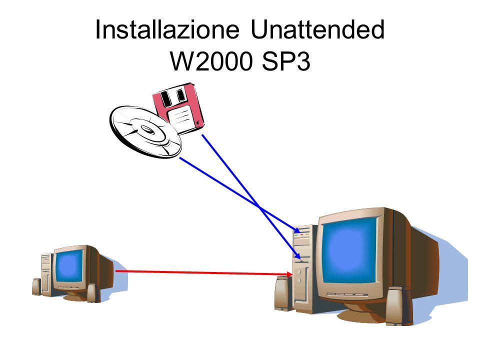 Installazione Unattended W2000 SP3