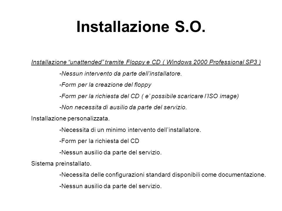 Installazione S.O.