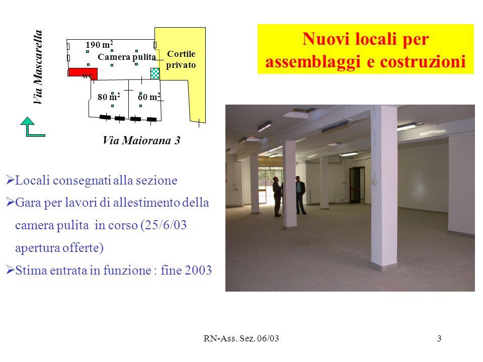 RN-Ass. Sez. 06/033 WC Camera pulita Cortile privato Via Maiorana 3 Via Mascarella 190 m 2 80 m 2 60 m 2 Nuovi locali per assemblaggi e costruzioni Lo
