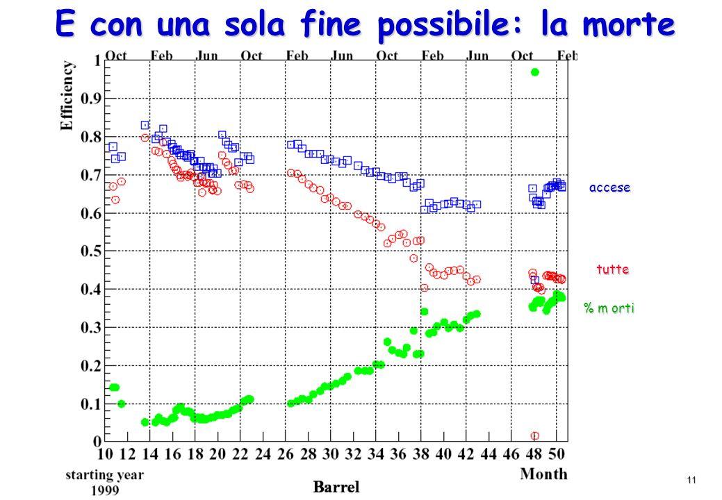 11 E con una sola fine possibile: la morte 1999 2000 accese tutte % m orti
