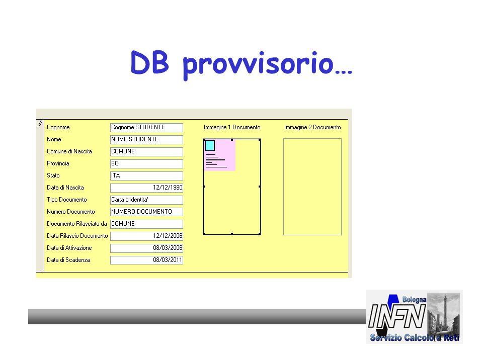 14 DB provvisorio…