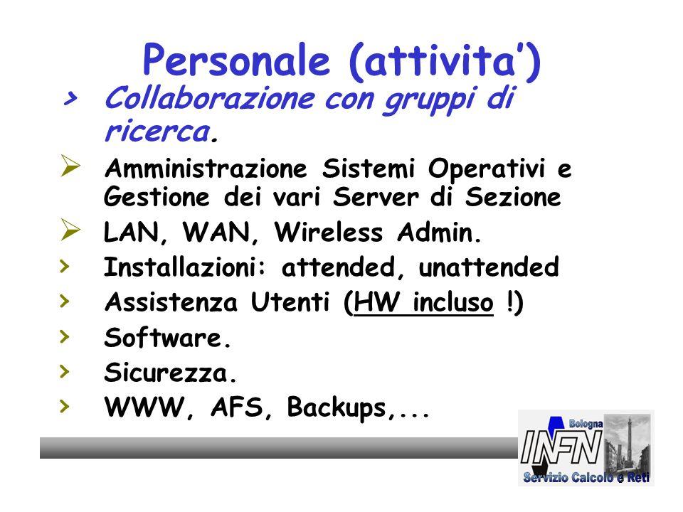 3 Personale (attivita) > Collaborazione con gruppi di ricerca.