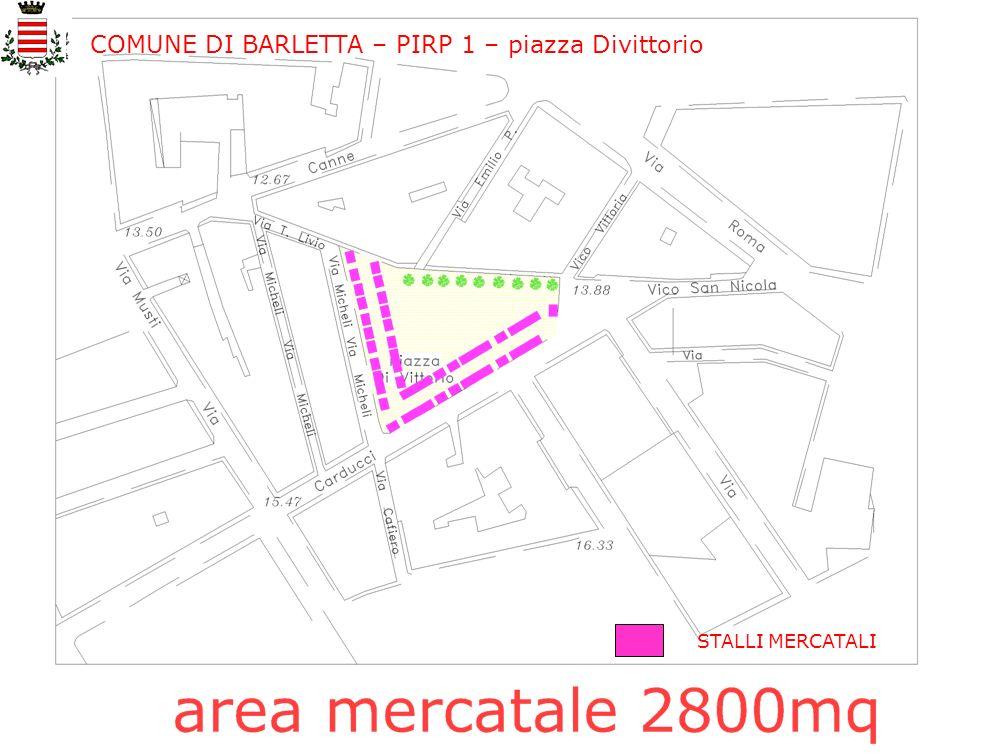 COMUNE DI BARLETTA – PIRP 1 – piazza Divittorio STALLI MERCATALI