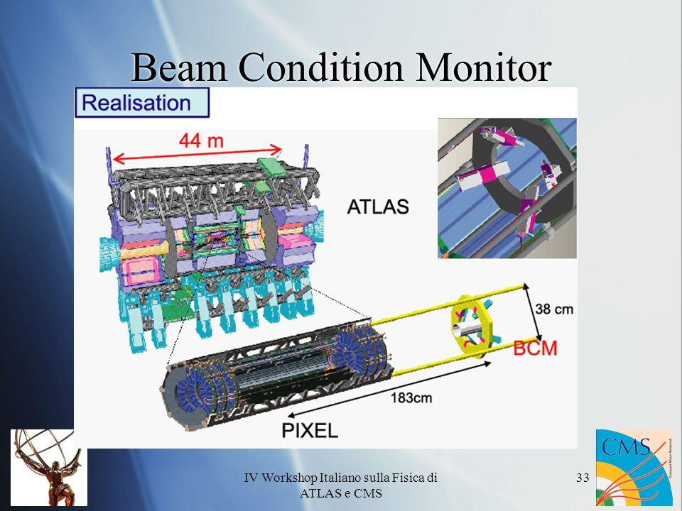 IV Workshop Italiano sulla Fisica di ATLAS e CMS 33 Beam Condition Monitor