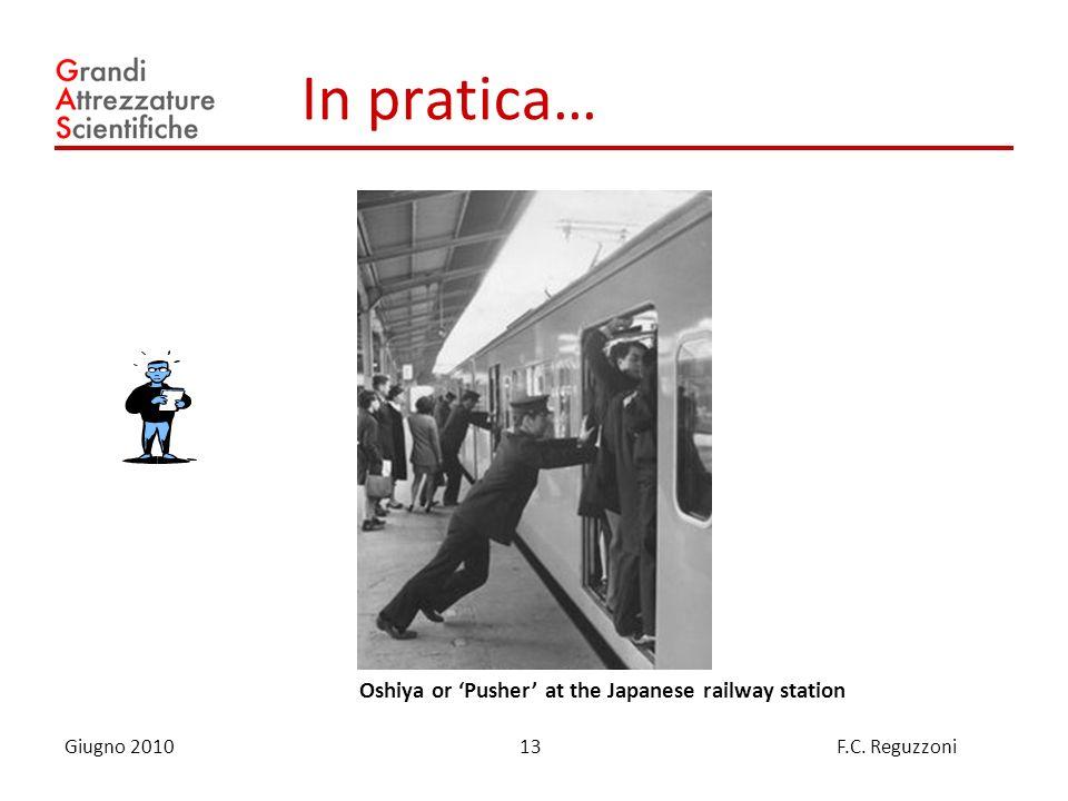 13 Giugno 2010 F.C. Reguzzoni In pratica… Oshiya or Pusher at the Japanese railway station