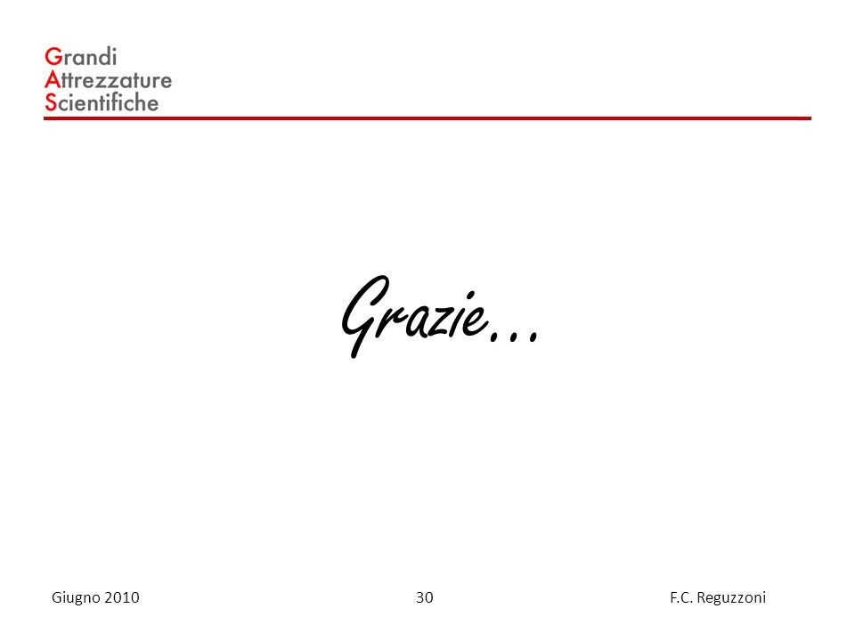 30 Giugno 2010 F.C. Reguzzoni Grazie…