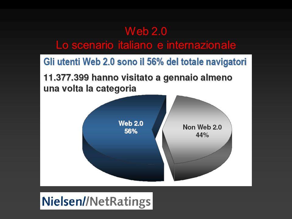 Web 2.0 Lo scenario italiano e internazionale