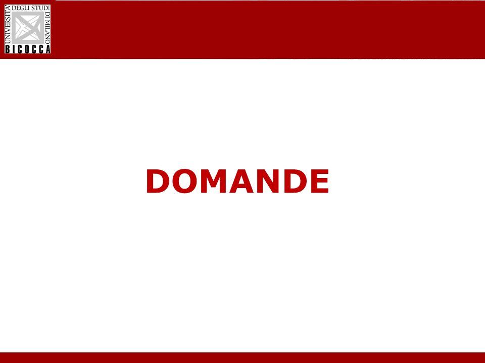 Laurea Magistrale in Informatica - Nuovo regolamento didattico DOMANDE