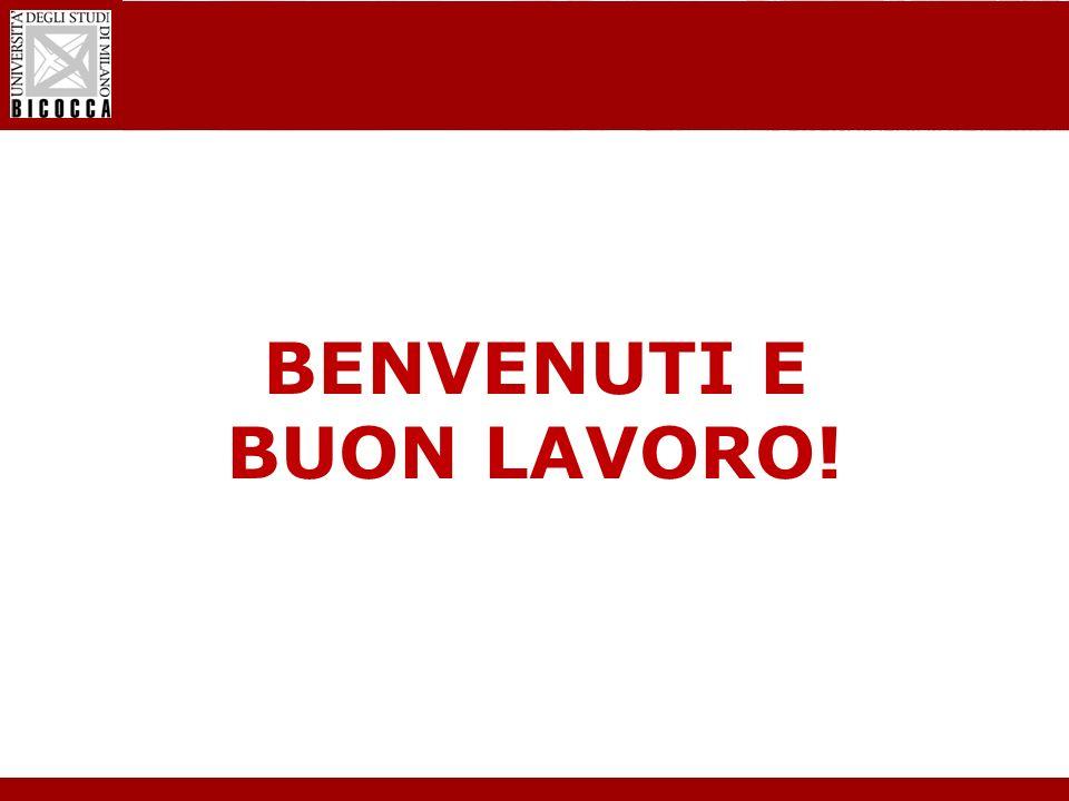 Laurea Magistrale in Informatica - Nuovo regolamento didattico BENVENUTI E BUON LAVORO!