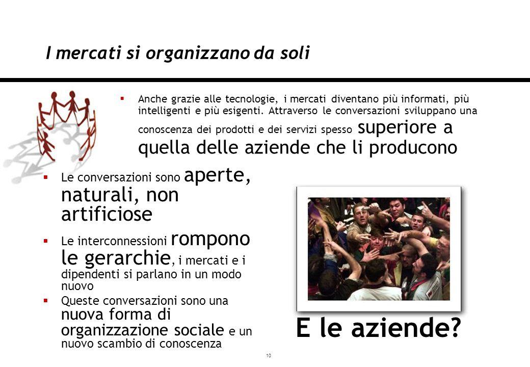 10 Milano, 03/12/2007 I mercati si organizzano da soli Anche grazie alle tecnologie, i mercati diventano più informati, più intelligenti e più esigenti.