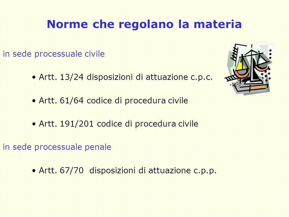 4 Norme che regolano la materia in sede processuale civile Artt.