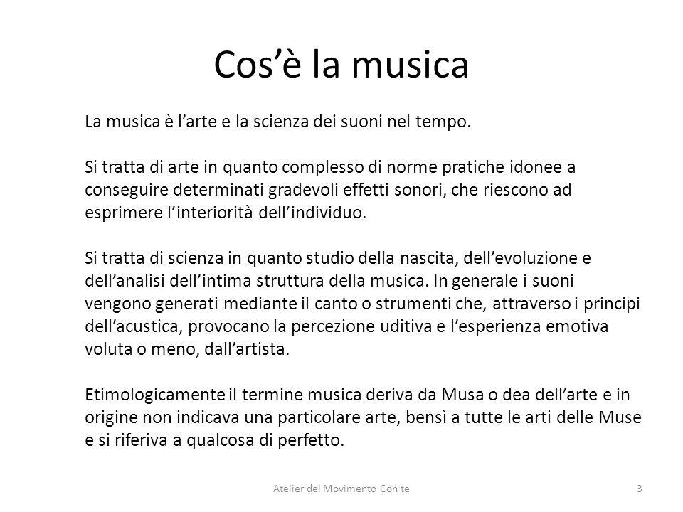 Cosè la musica La musica è larte e la scienza dei suoni nel tempo. Si tratta di arte in quanto complesso di norme pratiche idonee a conseguire determi