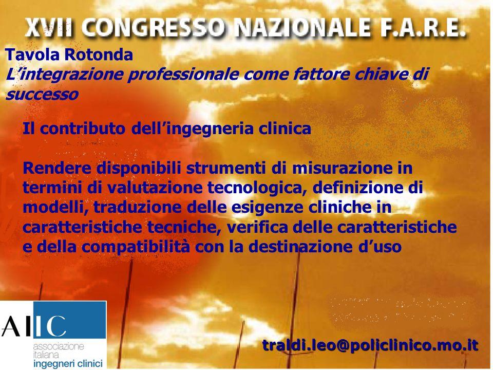 Tavola Rotonda Lintegrazione professionale come fattore chiave di successo traldi.leo@policlinico.mo.it