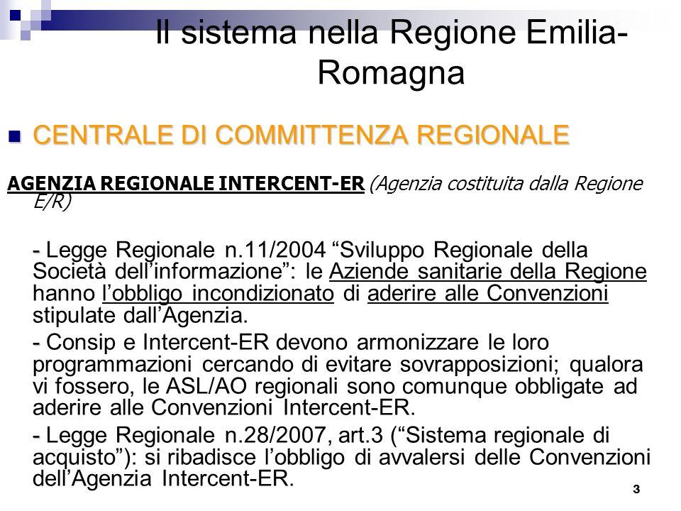 3 CENTRALE DI COMMITTENZA REGIONALE CENTRALE DI COMMITTENZA REGIONALE AGENZIA REGIONALE INTERCENT-ER (Agenzia costituita dalla Regione E/R) - - Legge