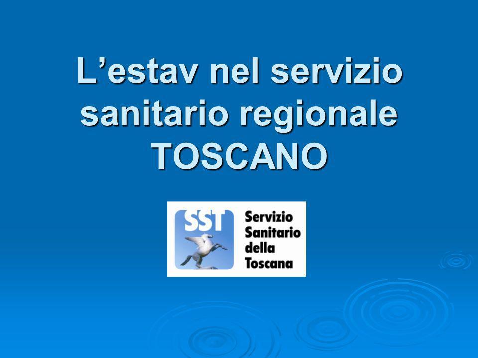 Lestav nel servizio sanitario regionale TOSCANO