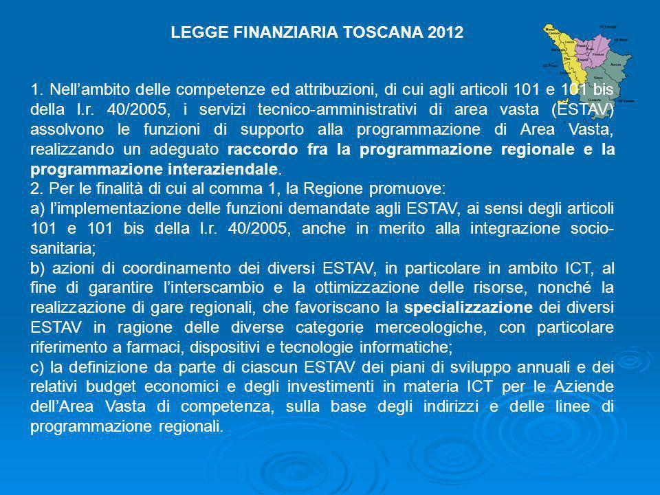 1. Nellambito delle competenze ed attribuzioni, di cui agli articoli 101 e 101 bis della l.r. 40/2005, i servizi tecnico-amministrativi di area vasta