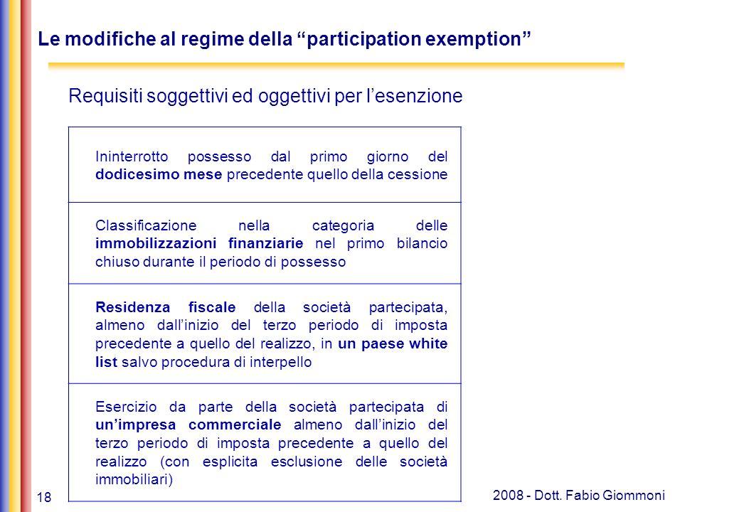 18 2008 - Dott. Fabio Giommoni Banche, leasing e soc.
