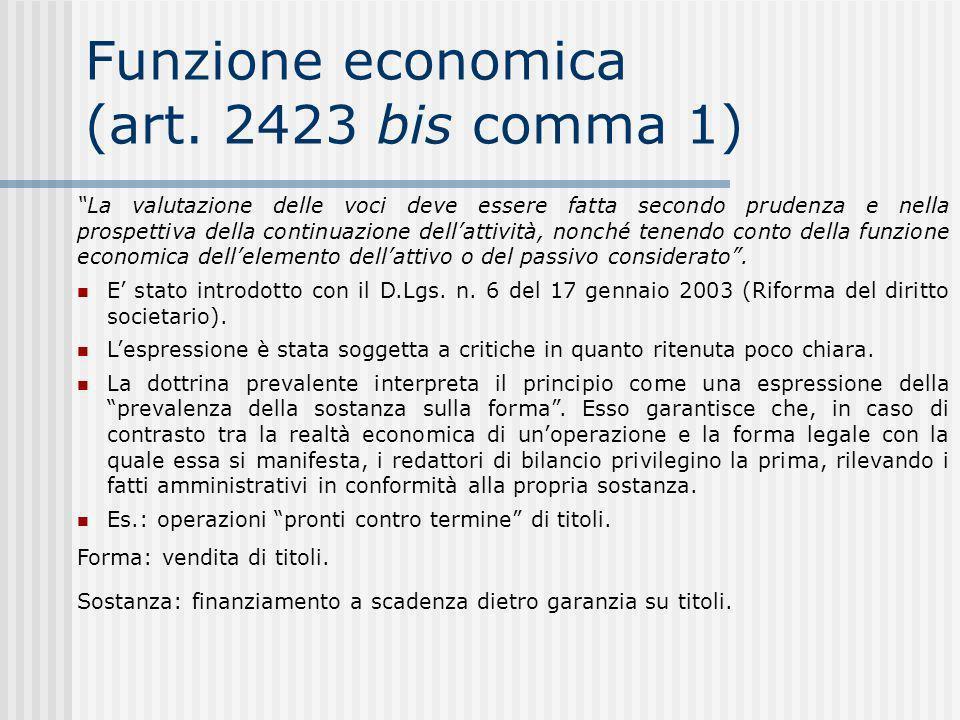 Funzione economica (art.