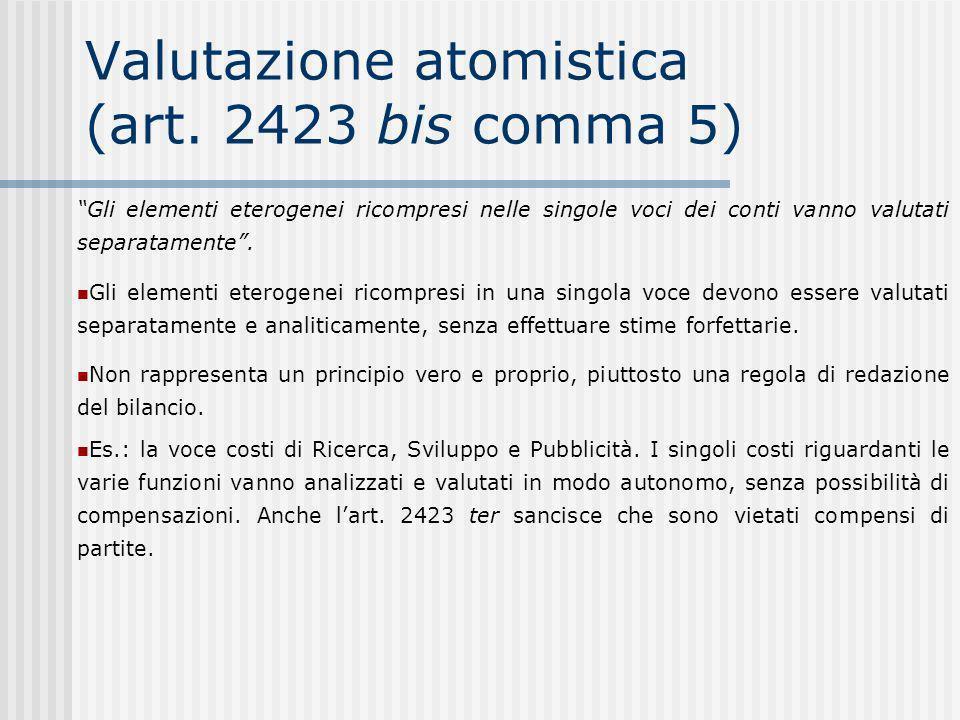 Valutazione atomistica (art.