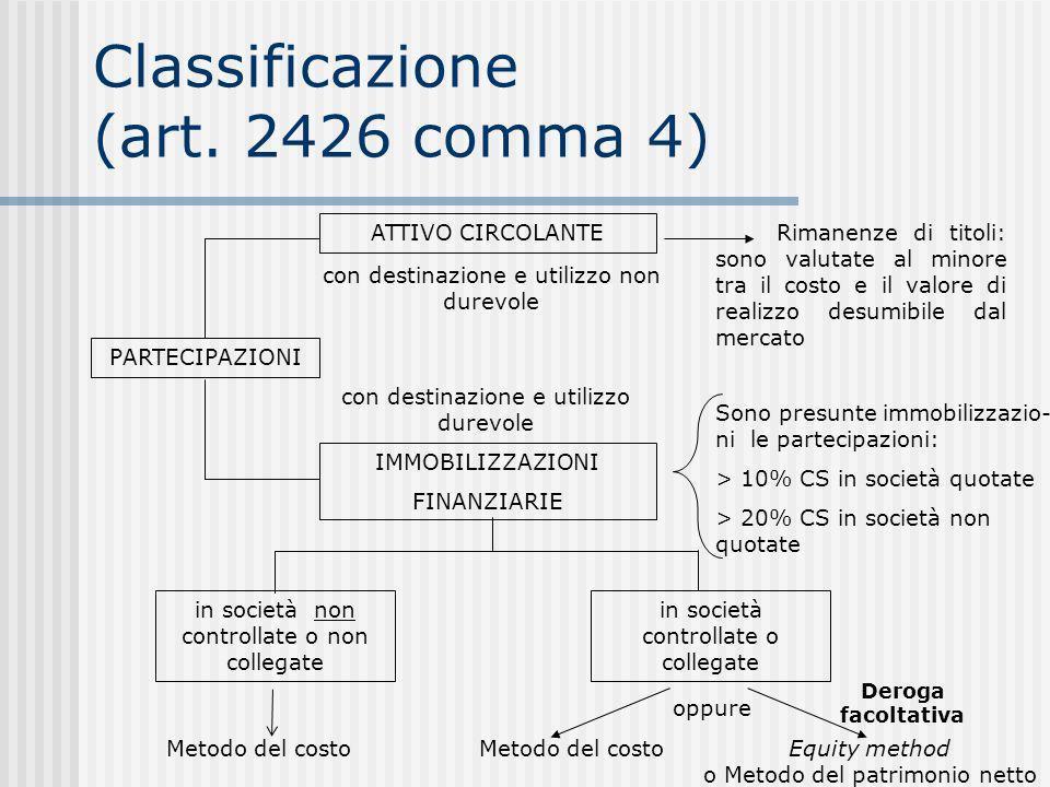 Classificazione (art.