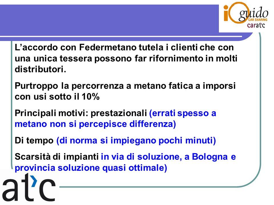 Laccordo con Federmetano tutela i clienti che con una unica tessera possono far rifornimento in molti distributori.