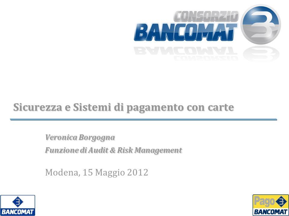 Sicurezza e Sistemi di pagamento con carte Veronica Borgogna Funzione di Audit & Risk Management Modena, 15 Maggio 2012