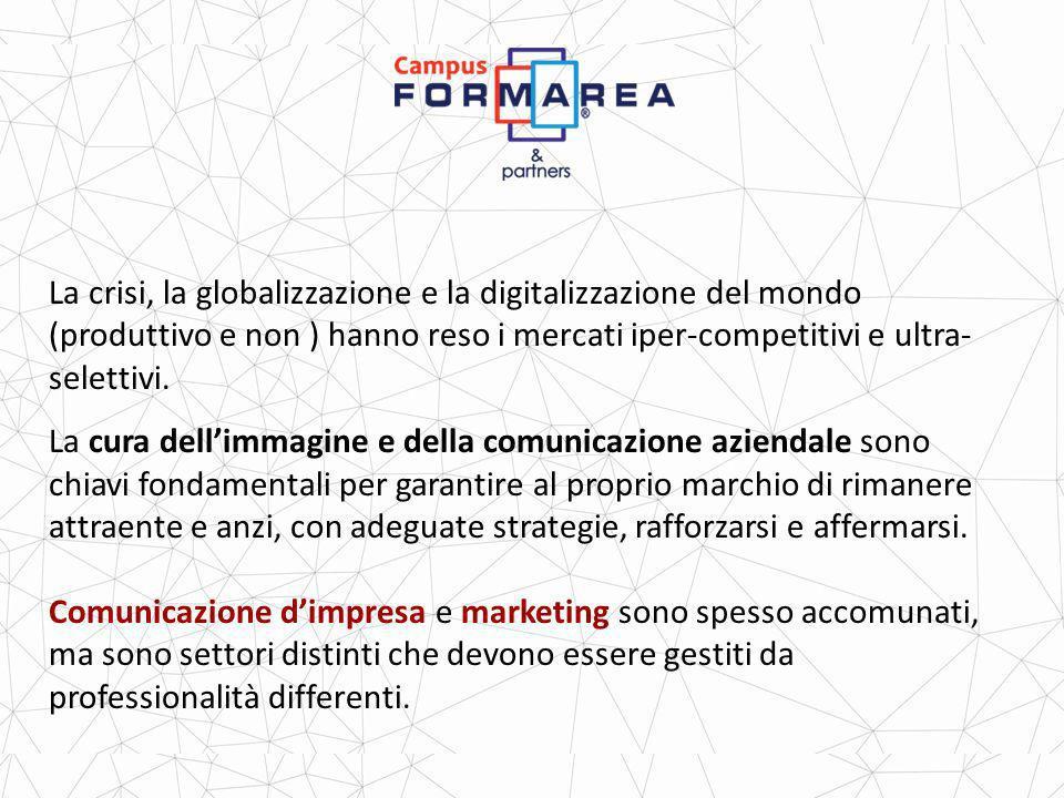 La crisi, la globalizzazione e la digitalizzazione del mondo (produttivo e non ) hanno reso i mercati iper-competitivi e ultra- selettivi.