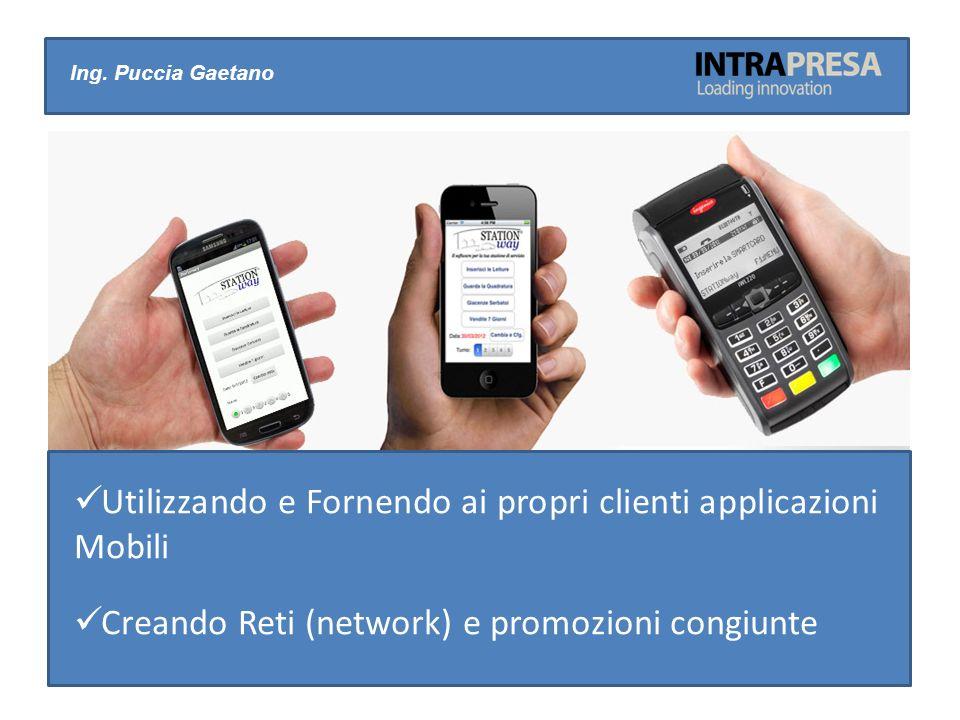 Ing. Puccia Gaetano Utilizzando e Fornendo ai propri clienti applicazioni Mobili Creando Reti (network) e promozioni congiunte