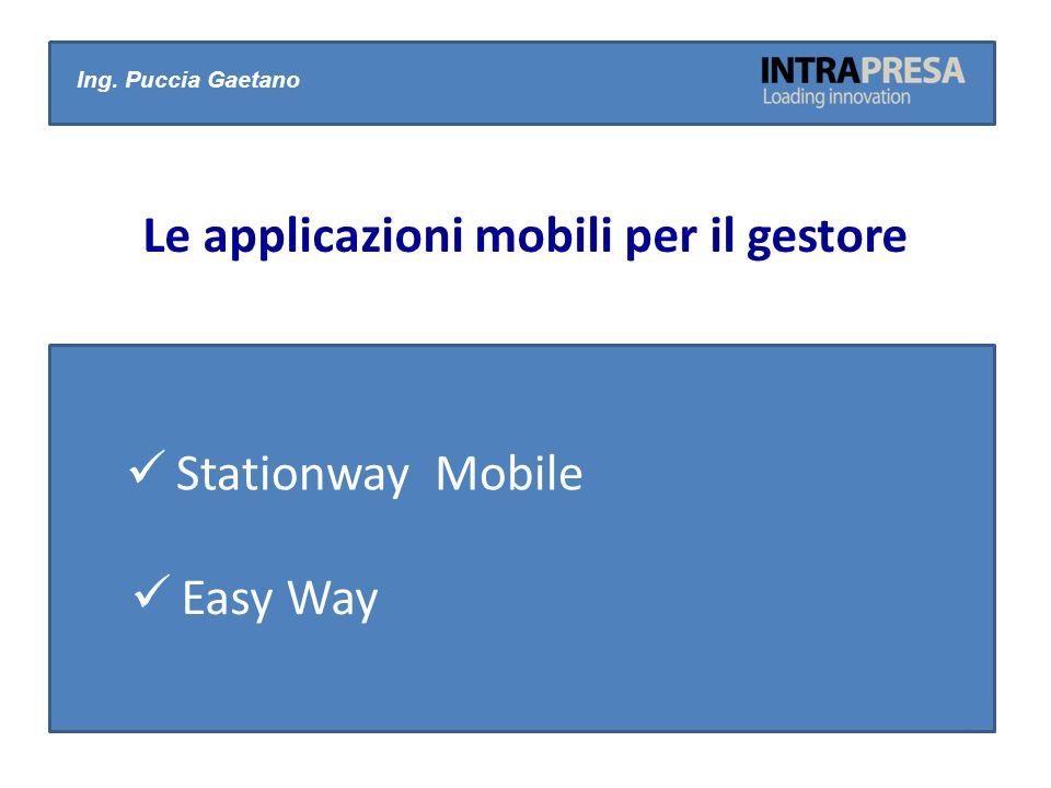 Stationway Mobile Ing. Puccia Gaetano Le applicazioni mobili per il gestore Easy Way