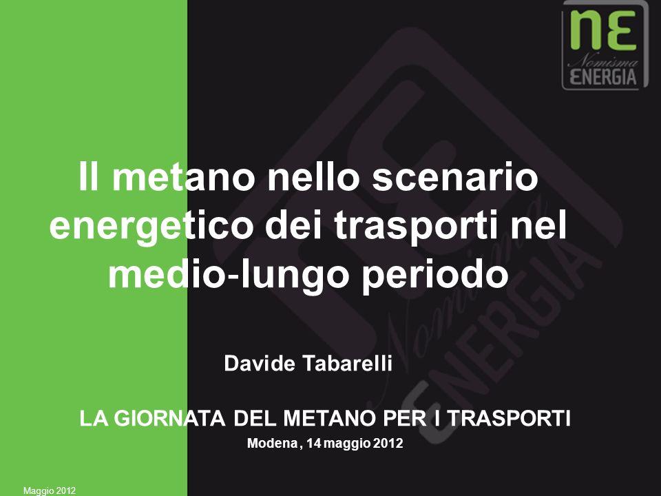 1 Il metano nello scenario energetico dei trasporti nel medio lungo periodo Davide Tabarelli LA GIORNATA DEL METANO PER I TRASPORTI Modena, 14 maggio
