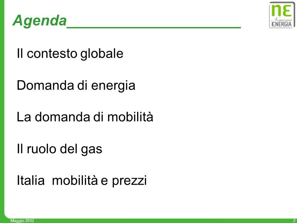 13 La mobilità in Italia: sempre più auto 0 200 400 600 800 1000 1200 1400 1600 19942010 Bici Piedi Combinato pubblico privato Autobus Treno Due ruote motore Auto Mobilità delle persone in Italia milioni passeggeri per km settembre 2011