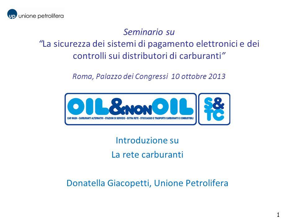 Seminario suLa sicurezza dei sistemi di pagamento elettronici e dei controlli sui distributori di carburanti Roma, Palazzo dei Congressi 10 ottobre 20