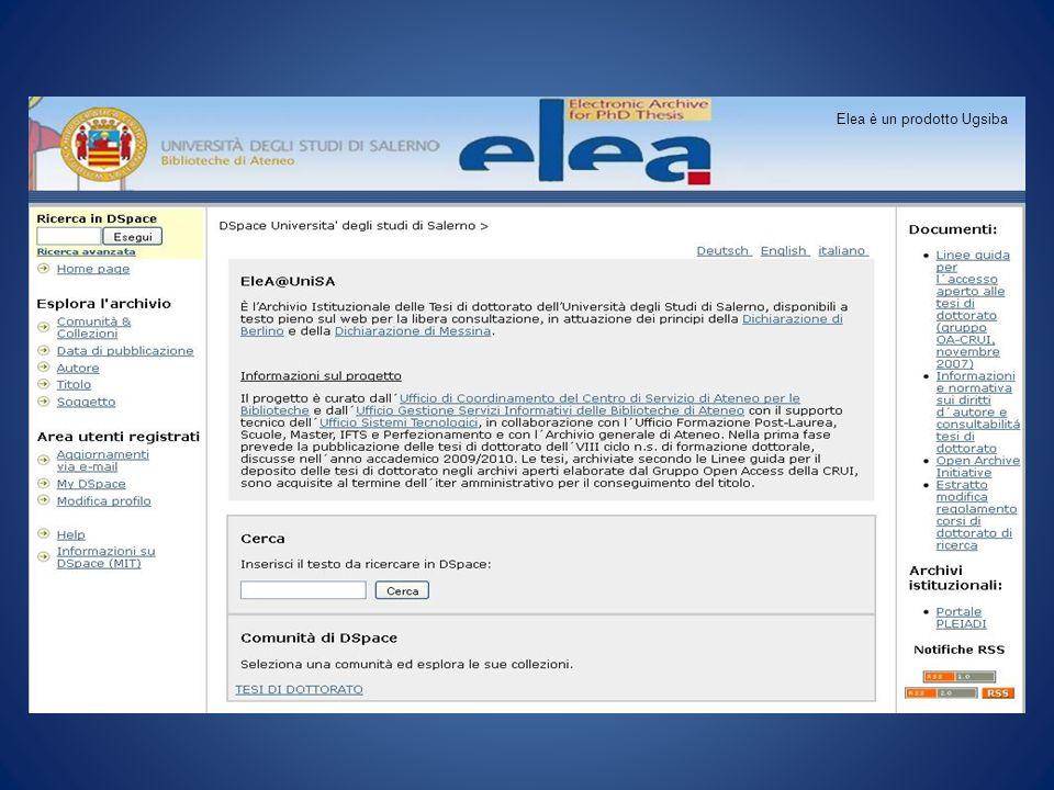 Elea è un prodotto UGSIBA Elea è un prodotto Ugsiba