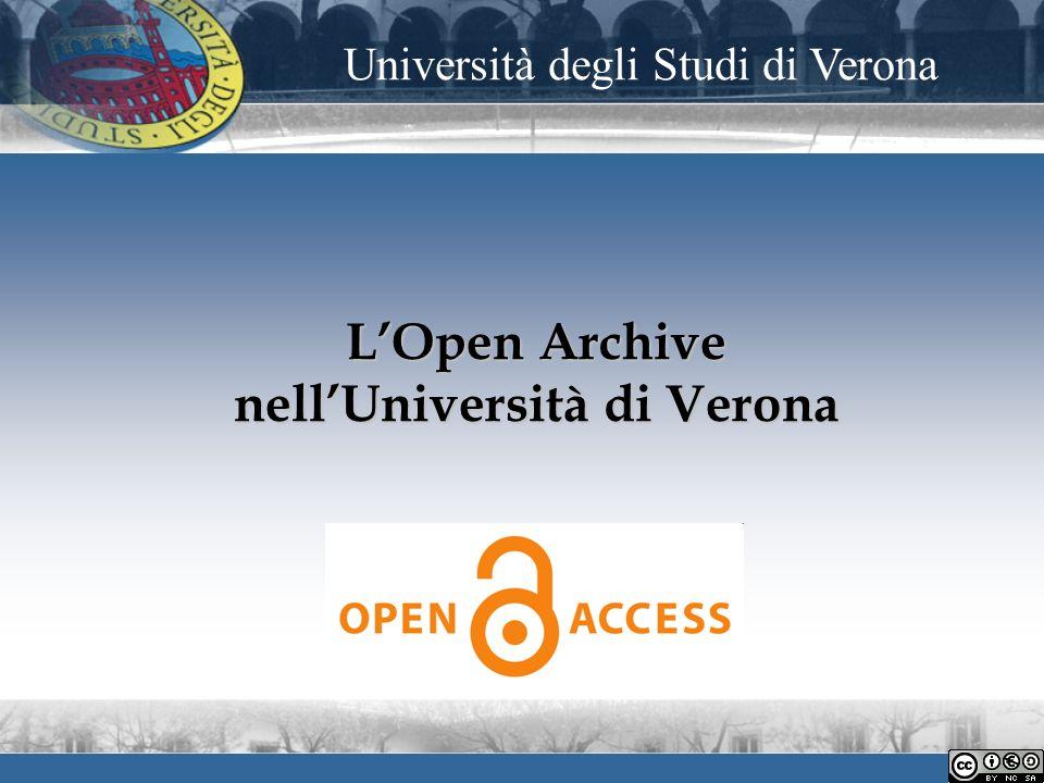 LOpen Archive nellUniversità di Verona Università degli Studi di Verona
