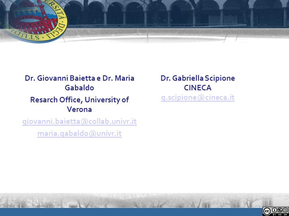 Dr. Giovanni Baietta e Dr.