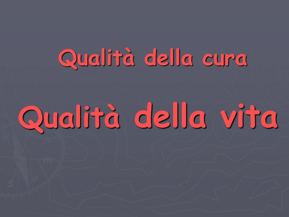 Qualità della cura Qualità della vita Qualità della cura Qualità della vita