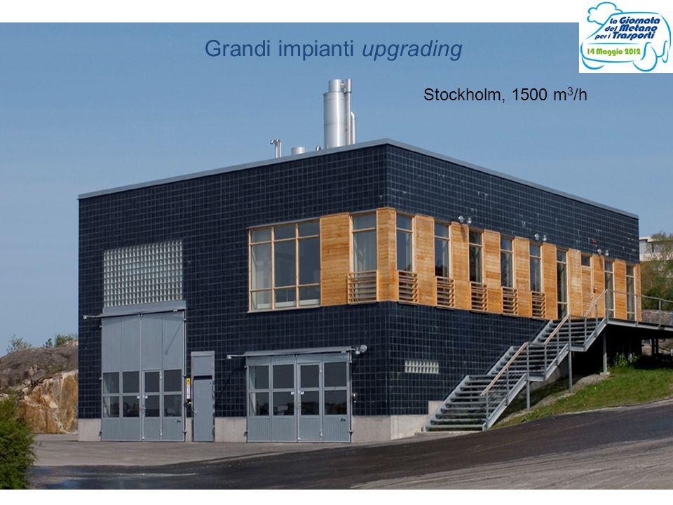 Grandi impianti upgrading Stockholm, 1500 m 3 /h