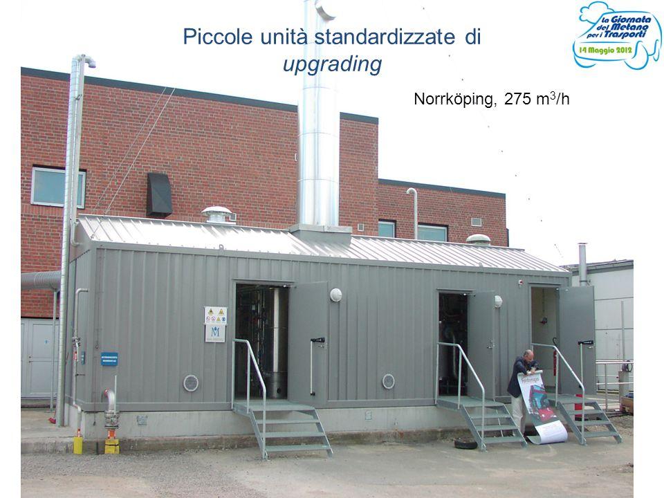Piccole unità standardizzate di upgrading Norrköping, 275 m 3 /h