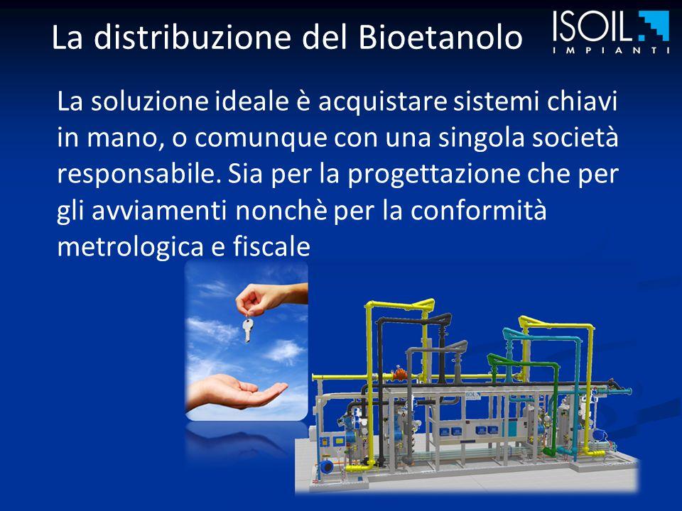 La distribuzione del Bioetanolo La soluzione ideale è acquistare sistemi chiavi in mano, o comunque con una singola società responsabile.