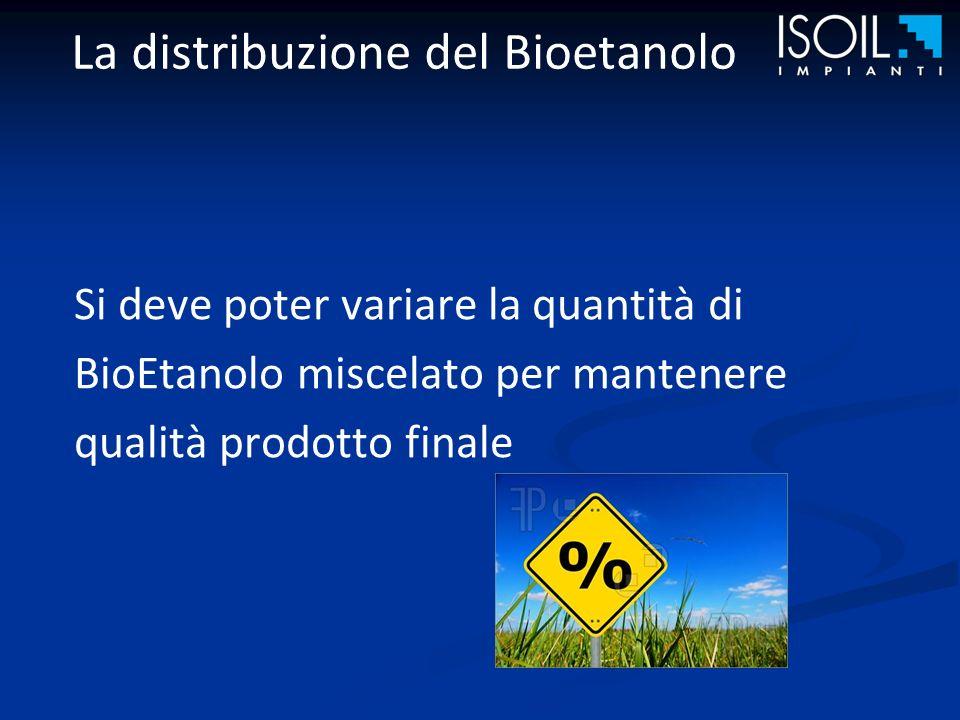 La distribuzione del Bioetanolo Il Bioetanolo deve essere trattato come un prodotto diverso dagli altri