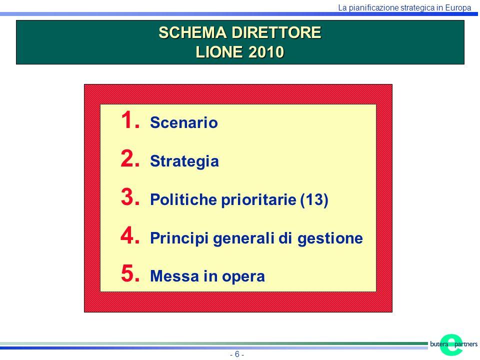 La pianificazione strategica in Europa - 6 - 1. Scenario 2.