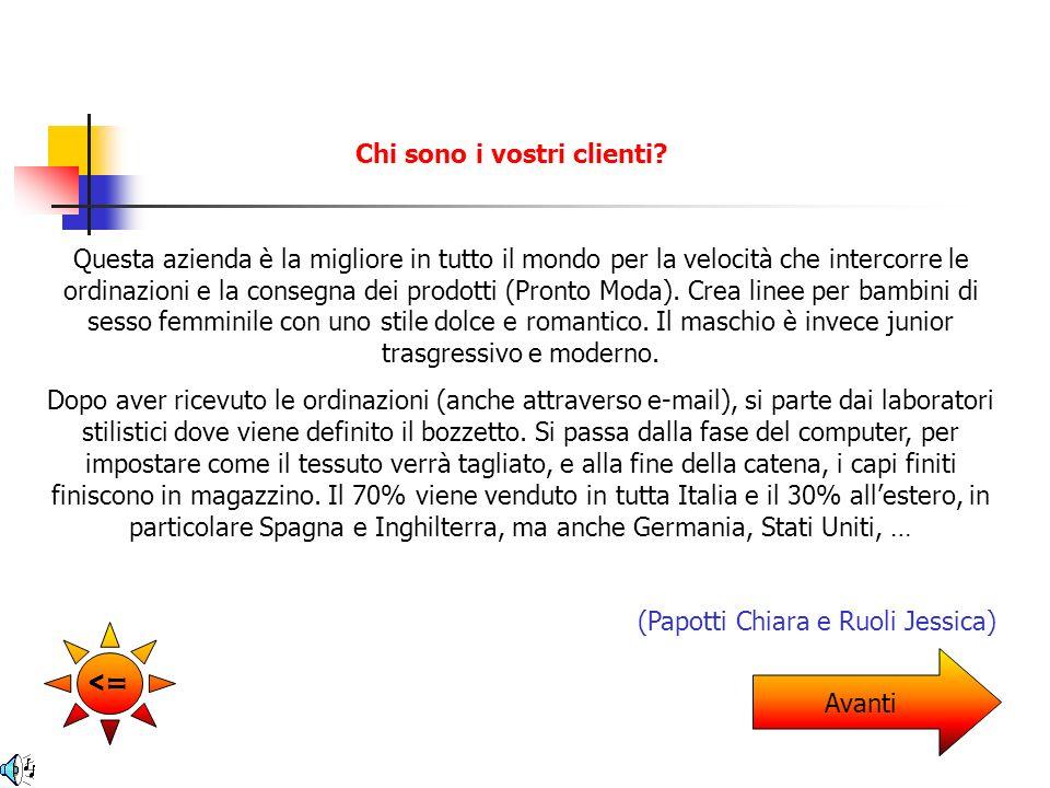 I filati vengono comprati in Italia.