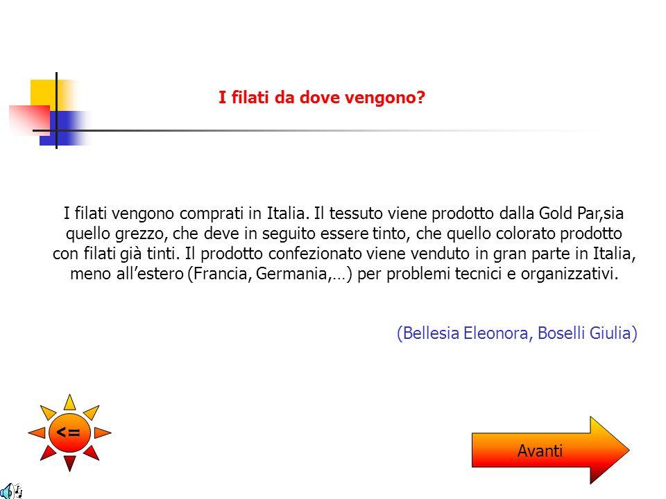 Si, noi compriamo i filati solo da fabbricatori italiani.