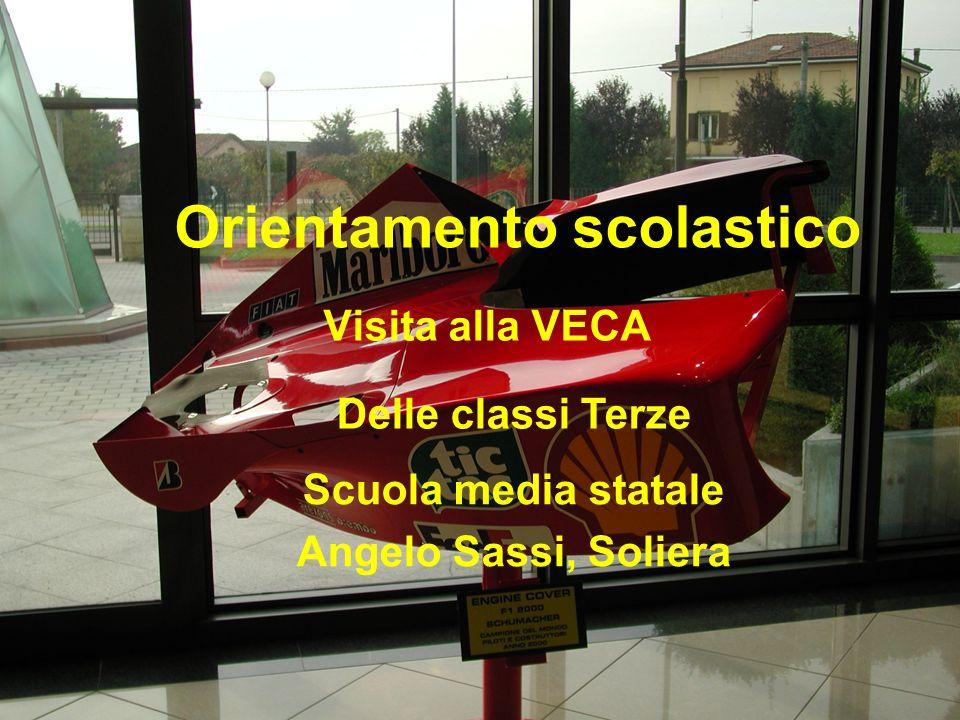 Orientamento scolastico Visita alla VECA Delle classi Terze Scuola media statale Angelo Sassi, Soliera