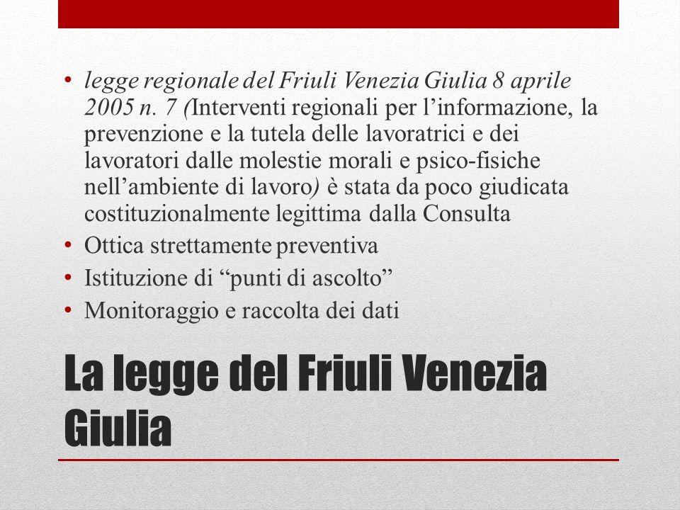 La legge del Friuli Venezia Giulia legge regionale del Friuli Venezia Giulia 8 aprile 2005 n.