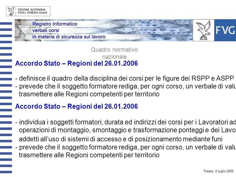 Trieste, 6 luglio 2009 Formazione dei Responsabili e degli Addetti ai Servizi di Prevenzione e Protezione dei Lavoratori Formazione dei Lavoratori e P
