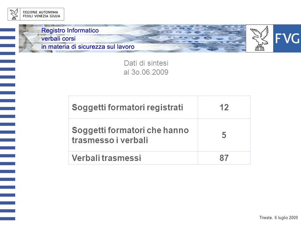 Trieste, 6 luglio 2009 Il sito web area riservata