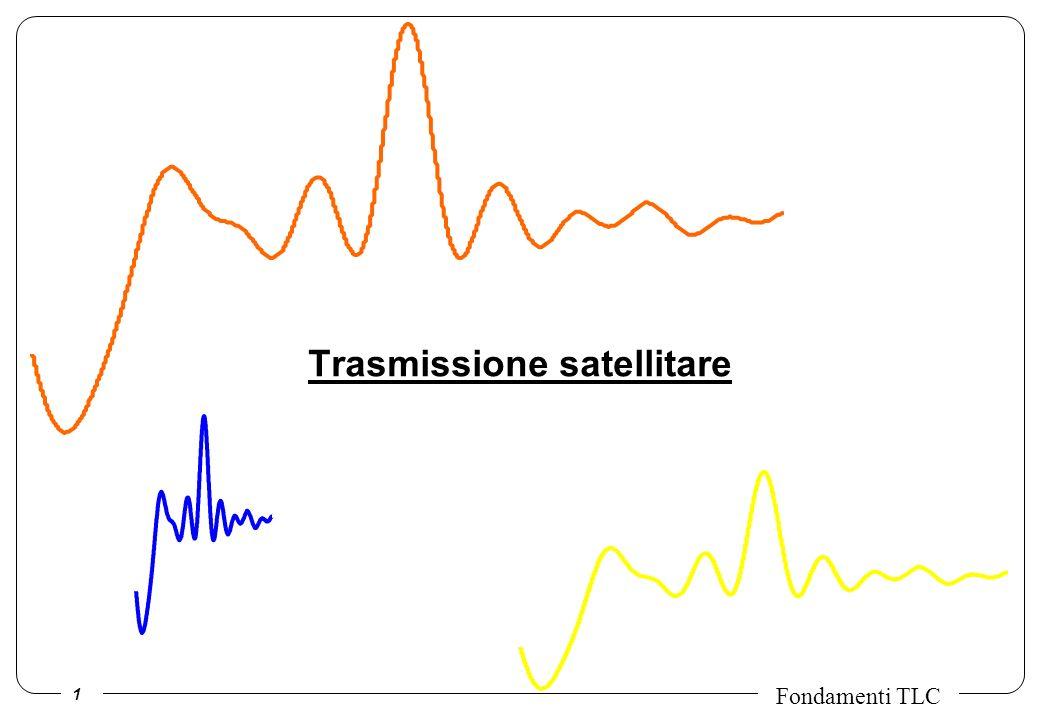 2 Fondamenti TLC I satelliti sono ottimi sistemi per diffusione video e/o radio; inoltre, servono zone dove non arrivano ne fibra ottica ne radiomobile: poco popolate, suburbane, in via di sviluppo.