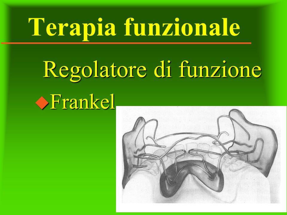 Terapia funzionale Regolatore di funzione u Frankel