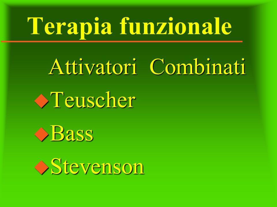 Terapia funzionale Attivatori Combinati u Teuscher u Bass u Stevenson